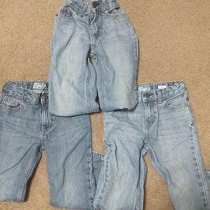 3 pairs of Oshkosh 4t adjustable jeans